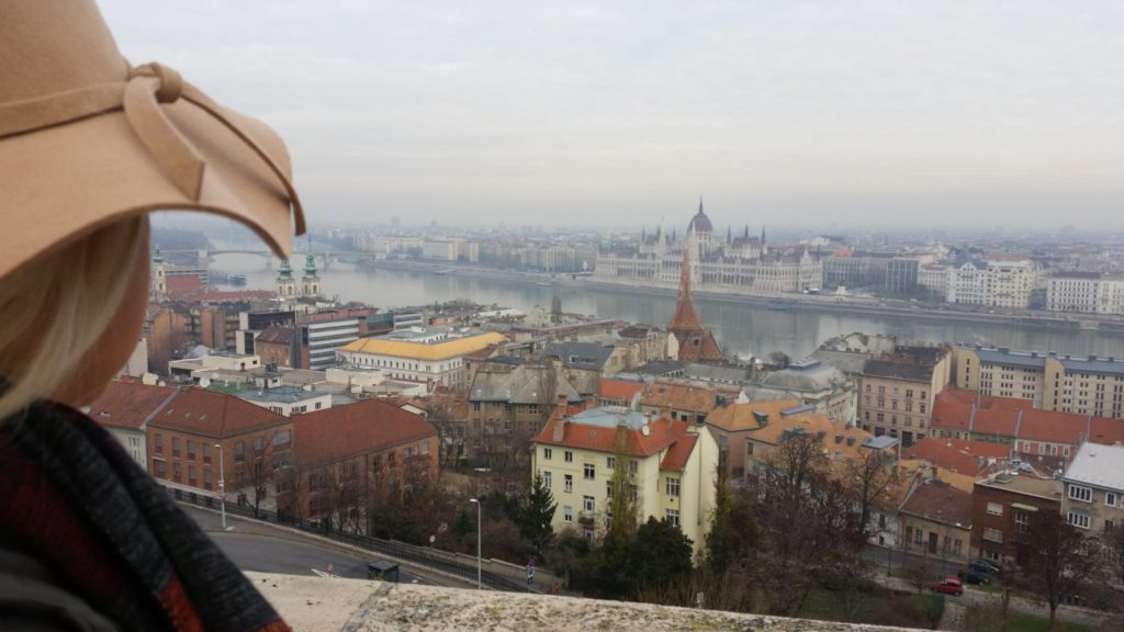 Budapest Castle Views with Big hat