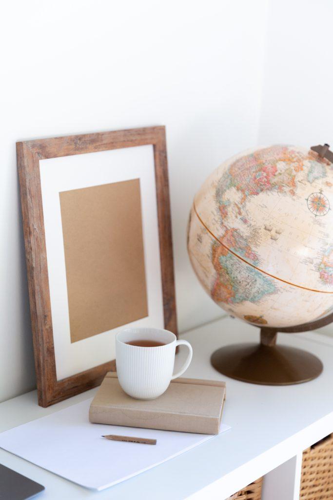 Vintage Globe in Office