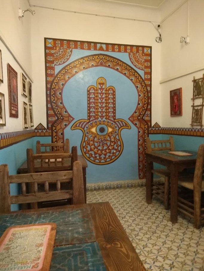 Henna hand at Marrakesh Henna Art Cafe